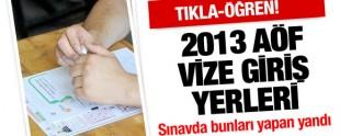 Açık Öğretim Fakültesi Güz Dönemi Vize Sınavları